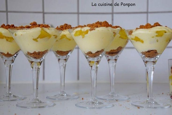 Verrine de mascarpone et ananas à la vanille