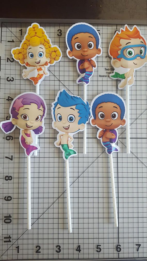 Check out this item in my Etsy shop https://www.etsy.com/listing/528493369/bubble-guppies-6-cake-toppers