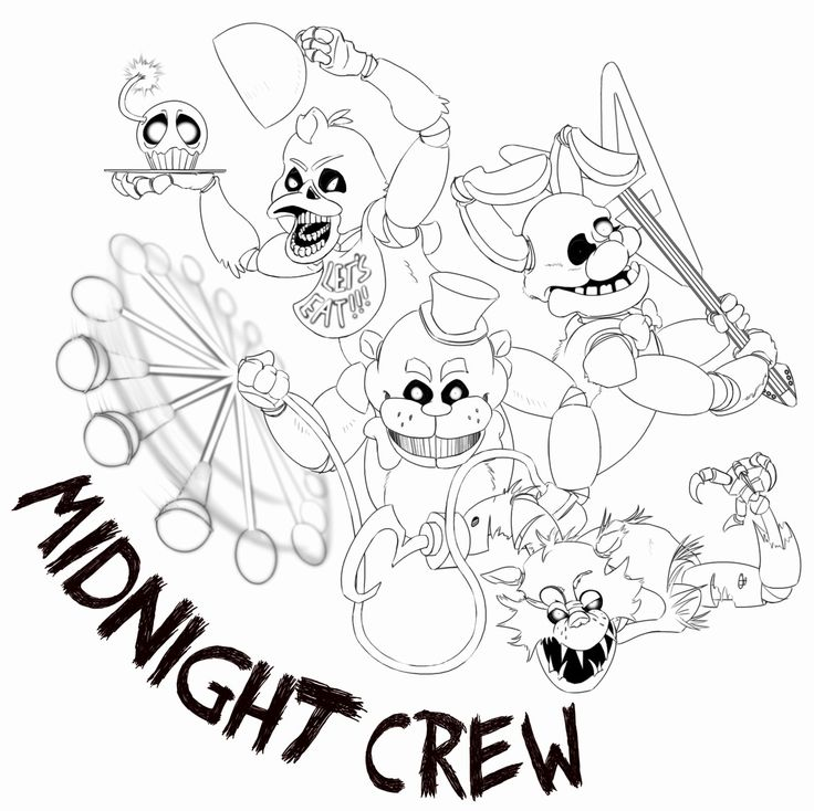 24 Funtime Foxy Coloring Page in 2020 Fnaf coloring