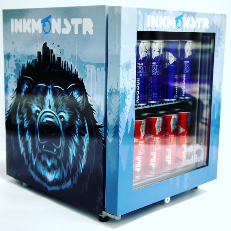 Happy holidays from Ink Monstr! What could be better under the tree this year than a Red Bull wrapped mini fridge, filled with ice cold Red Bulls?? ❄❄