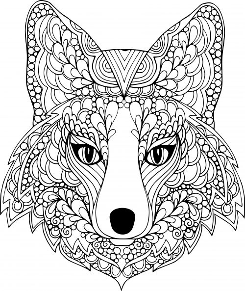 the face of the dog free coloring page - Animal Coloring Pages