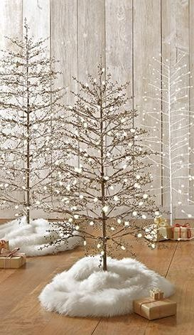 Try a small faux sheepskin area rug around the bottom of your Christmas tree as the tree skirt this year. This rug has fur-like texture and will enhance your Christmas tree with its softness. #12DaysofDeals2016