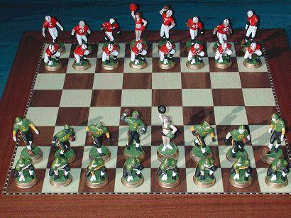 Football Chess Set. Make your own Football Team molds.