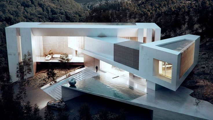The conceptualization of the project takes as a starting point separation architectural program in two main centers - social and private - generating each one of the volumes that make up the house.
