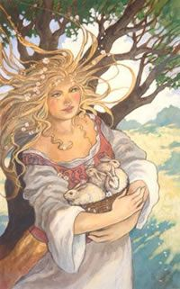 EostreSpring Equinox, Ostara Goddesses, Bunnies Art, Easter, The Artists, Ostara Spring, Pagan, Fertilizer Goddesses, Spring Goddesses