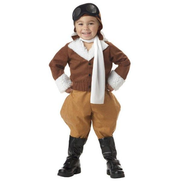 Our toddler pilot outfit is a very unique and cute kid's costume. This aviator costume makes a great Halloween costume but in addition it also offers a cute idea for your child's next studio portrait.