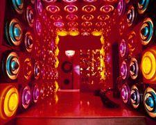Veenwe Panton`s private house in Basel: Basel Binningen, Rings Lamps, Rebgass 108, Lamps Vp1913 00 B D18, Pantone Private, Futuristic Interiors, Rainbows Bright, Interiors Design, Private House