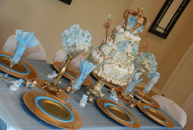 little prince and princess babyshower baby shower party ideas