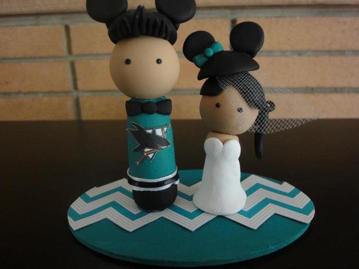 #Wedding #CakeTopper for Travis and @Andrea / FICTILIS Jew #Disney #SanJoseSharks #deeconstructed #whiskuponastar