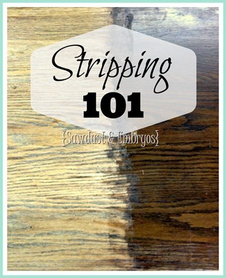 The ins and outs of STRIPPING! - Reference this summer when I strip my mom's old desk & reclaim it as my own.