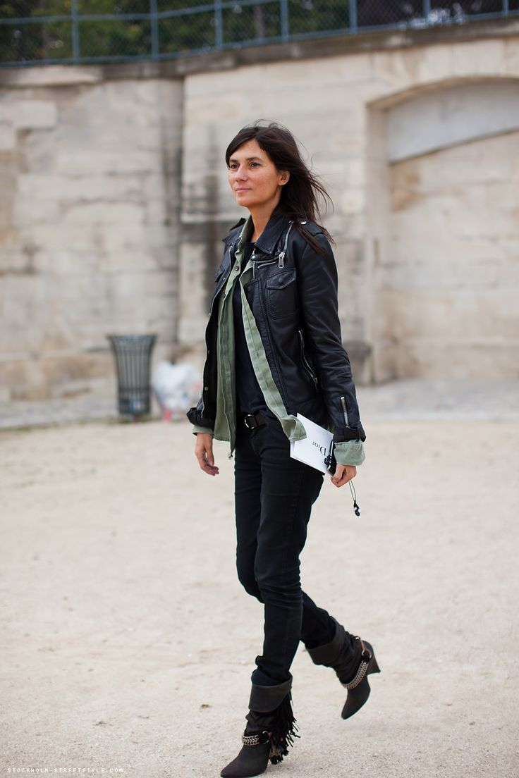 Leather jacket and Layering