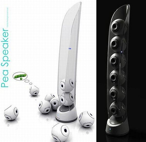 Pea Speaker System ... I would love this!