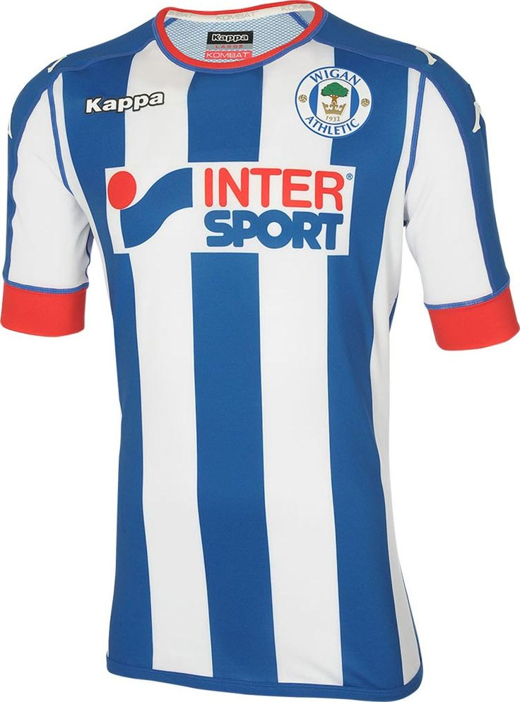 The new Wigan Athletic 16-17 home kit introduces a smart, striped design with splashes of red, while the away kit is extraordinary.