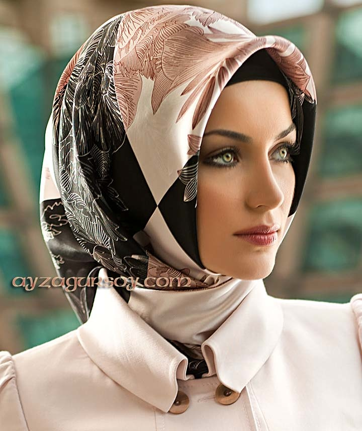 Gorgeous scarf. I am not a Muslima, so I would wear it around my neck or draped across my shoulders. I love scarves. I am always looking for another one to add to my collection! | Armine Silk
