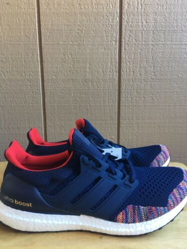 9e6646b78 Adidas Men s UltraBoost LTD Running Shoes Navy Blue Multicolor Size 11.5  BB7801