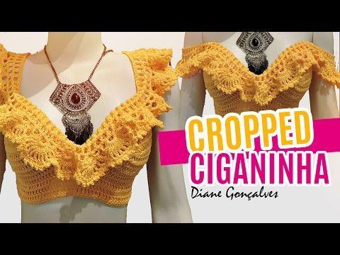 CROPPED CIGANINHA P,M,G / DIANE GONÇALVES - YouTube