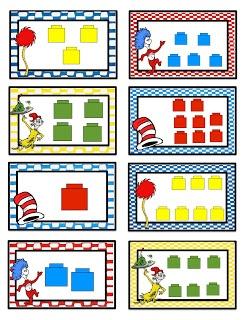 Preschool Printables: Number Cards Seuss Inspired