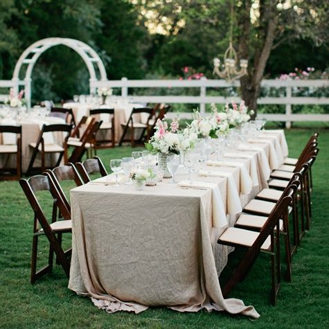 Chic Rustic Reception Decor Outdoor Garden
