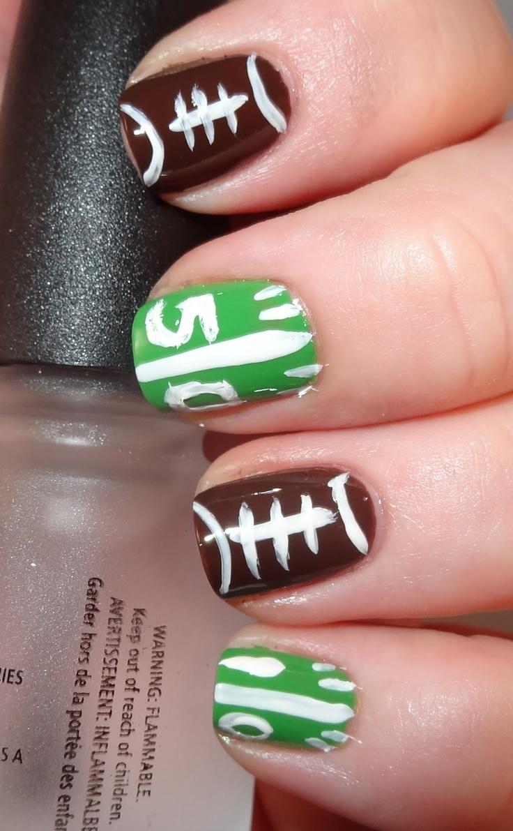 Some football nail ideas nails pinterest football nails and