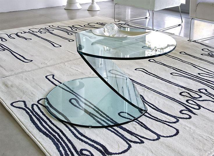 Contemporary Glass Coffee Table In Choice Of Clear, Black, White Or  Mirrored Finish