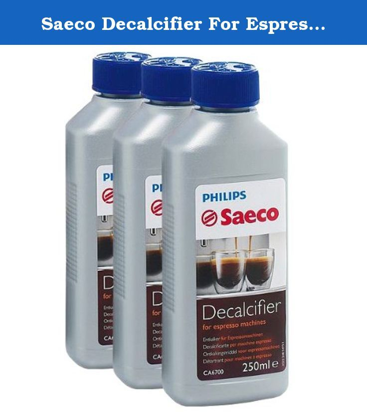 Saeco Decalcifier For Espresso Coffee Machines 250 Ml. Philips saeco decalcifier for espresso machines ca6700/00, 250 ml liquid-decalcifier: saeco decalcifier for espresso coffee machines, 250 ml :regular descaling ensures a long service life. Suitable for all automatic coffee machines, espresso machines, filter coffee machines, steam cleaners and steam ironing stations. for descaling coffee fat and optimal cleaning of the coffee system for a perfect coffee enjoyment. pack contains:3 x 1 x…