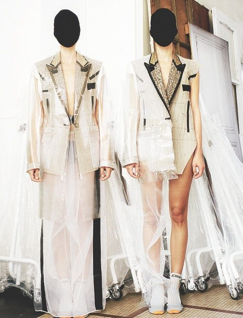 "lipstickonyourpillowcase: "" At Maison Martin Margiela Atelier, by Estelle Hanania for Dazed & Confused, November 2011 """