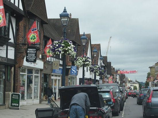 Romantic  Sevenoaks town High Street - Kent, UK