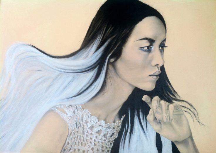 Portrait - Charcoal & Acrylics on canvas