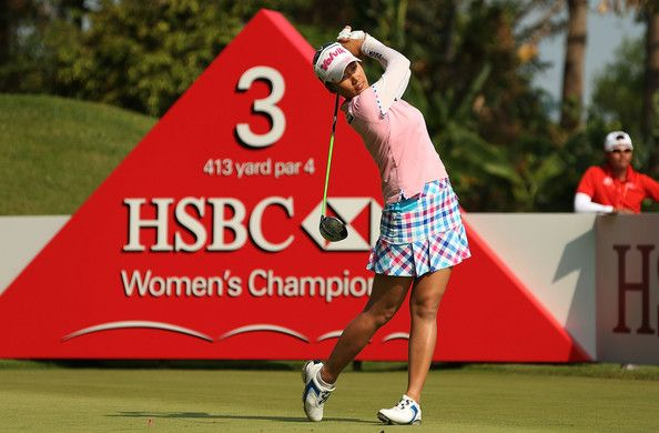 Chella Choi Photos - Chella Choi of South Korea hits her tee shot on the third hole during the final round of the HSBC Women's Champions at the Sentosa Golf Club on March 2, 2014 in Singapore. - HSBC Women's Champions - Day Four