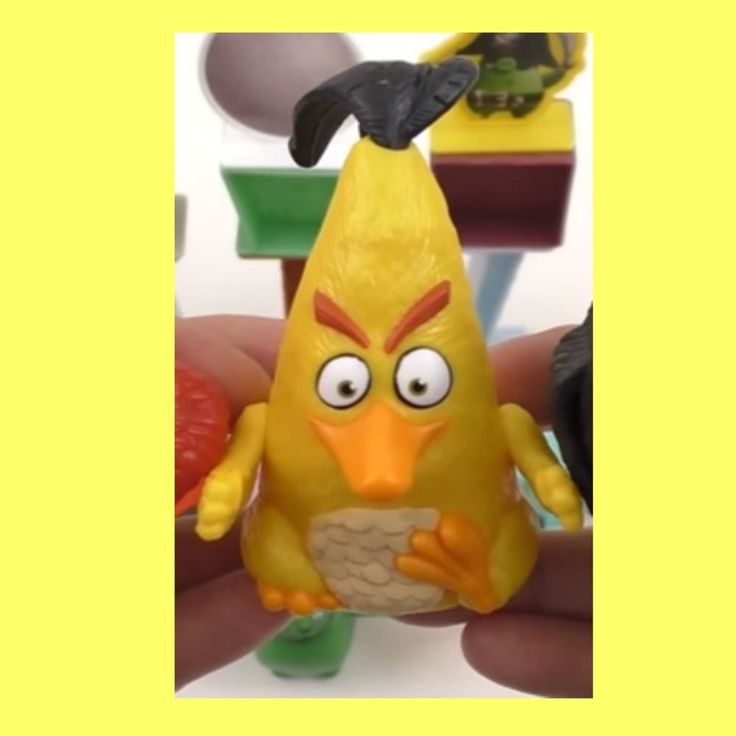 2016 New Mcdonalds Angry Birds Hy Meal Toy 8 Chuck Character Figure Ebay