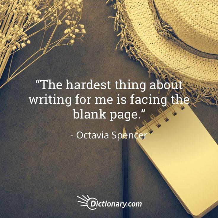 Quotable – Octavia Spencer – Writers Write
