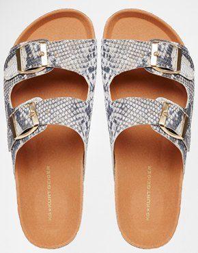 Sandals :    KG by Kurt Geiger Nola Beige Snake Flatform Sandals  - #Sandals https://talkfashion.net/shoes/sandals/sandals-kg-by-kurt-geiger-nola-beige-snake-flatform-sandals/