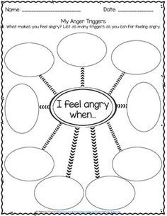 Nerdy image regarding anger management for kids worksheets free printable