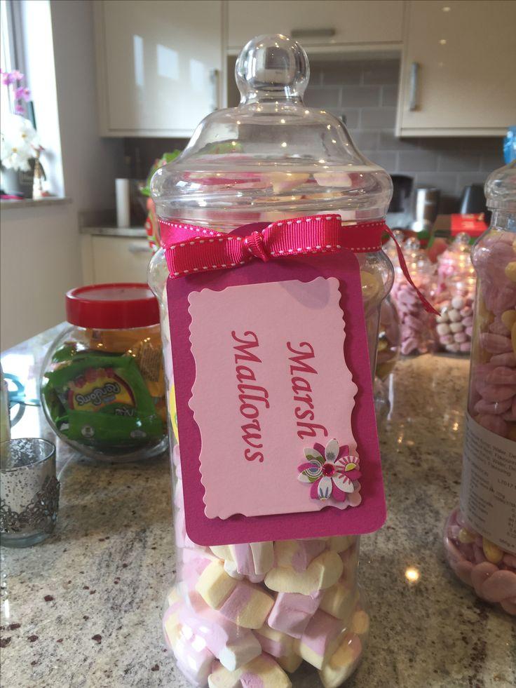 Handmade sweetie jar labels