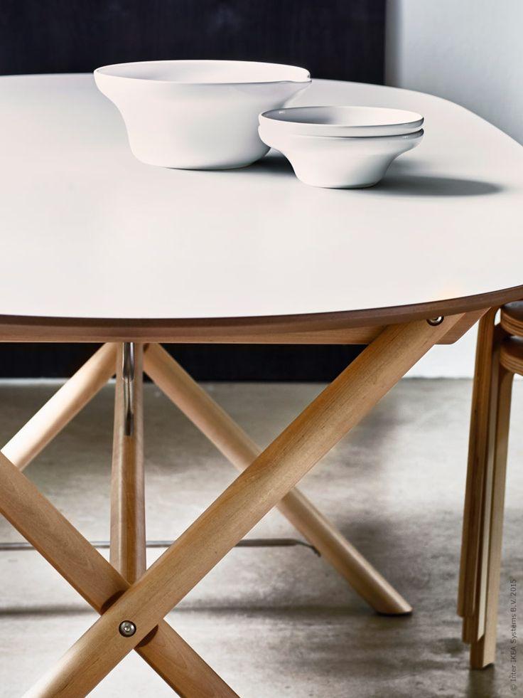 DALSHULT/SLÄHULT bord är enkelt, men samtidigt vackert och modernt. Med ben av massiv björk och en skiva av lättskött melamin är det den perfekta kombinationen av stil och styrka. Kombinera mera och flera - och skapa dig ett personligt matbord efter smak! #swedish