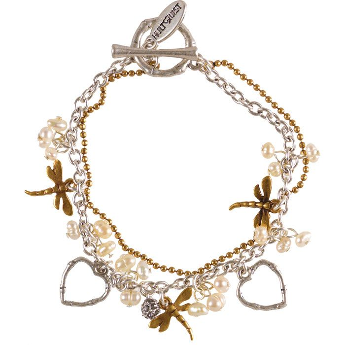 Must have Hultquist Jewellery Bamboo Dragonfly Freshwater Pearls Bracelet £36.95 http://www.lizzielane.com/product/hultquist-jewellery-bamboo-dragonfly-freshwater-pearls-bracelet/