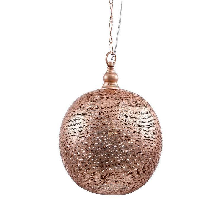 Filisky Ball Copper Pendant Light Not on the High Street
