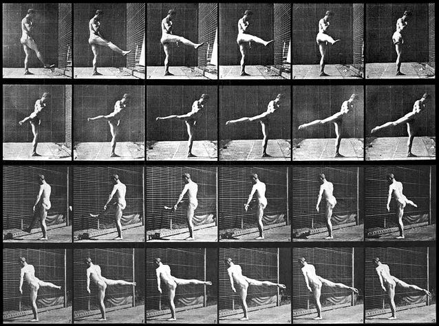 chronophotography — an antique Victorian-era photographic technique that captures several sequential frames of movement, which can then be combined into a single image.