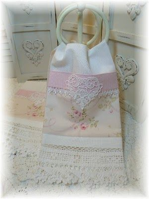 lovely shabby chic guest-towel from Marionberry Cottage