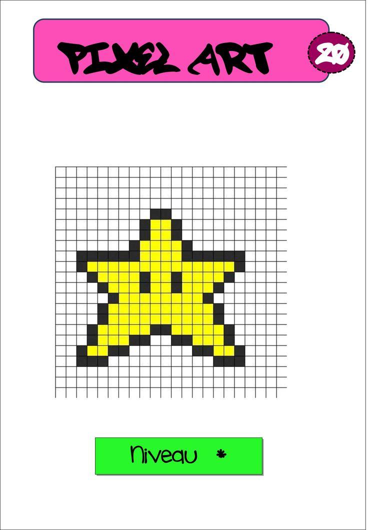 Pixel art autonomie reproduction sur quadrillage