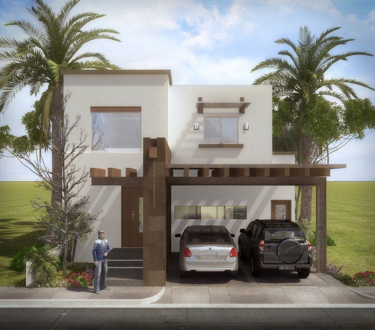 Fachadas de casas moderna de 9 a 12 de frente