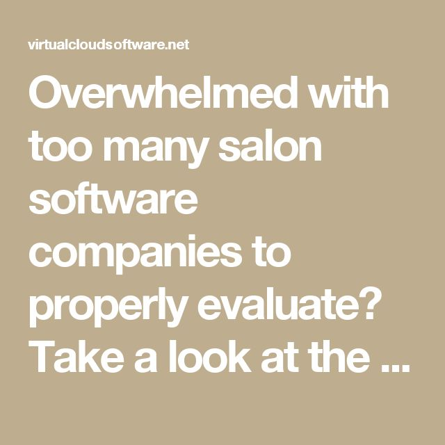 Overwhelmed with too many salon software companies to properly evaluate? Take a look at the tips in this article.