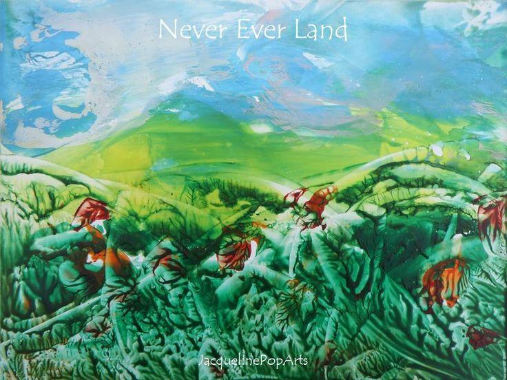 """Never Ever Land, encaustic art by Jacquelinepoparts"