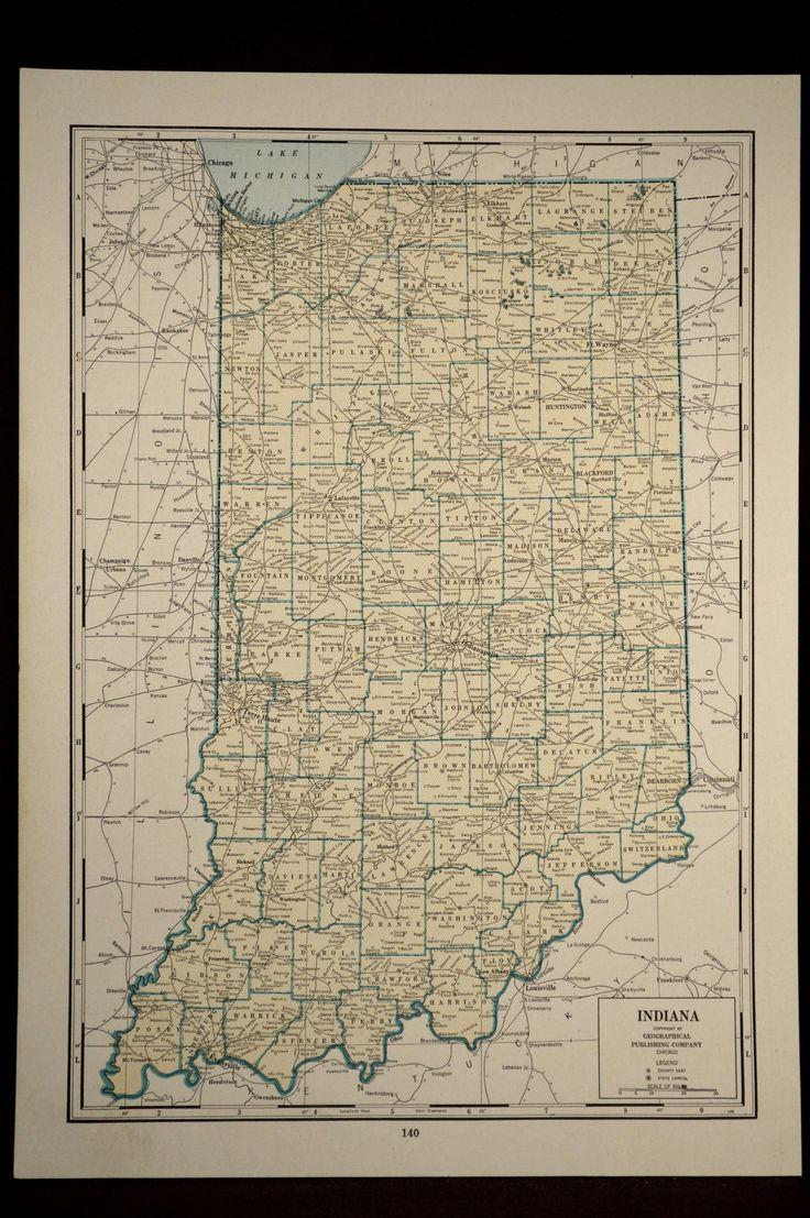 Más De Ideas Increíbles Sobre Indiana Map Solo En Pinterest - Us map ohio indiana