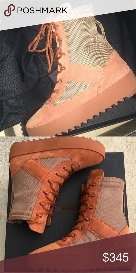Yeezy Season 3 Yeezy season 3. Burnt Sienna. Womens military boot. Size 49. Never worn - only tried on once & theyre wayyyyy too big! Boxing. Dust bags and receipt included. Adidas Shoes Athletic Shoes