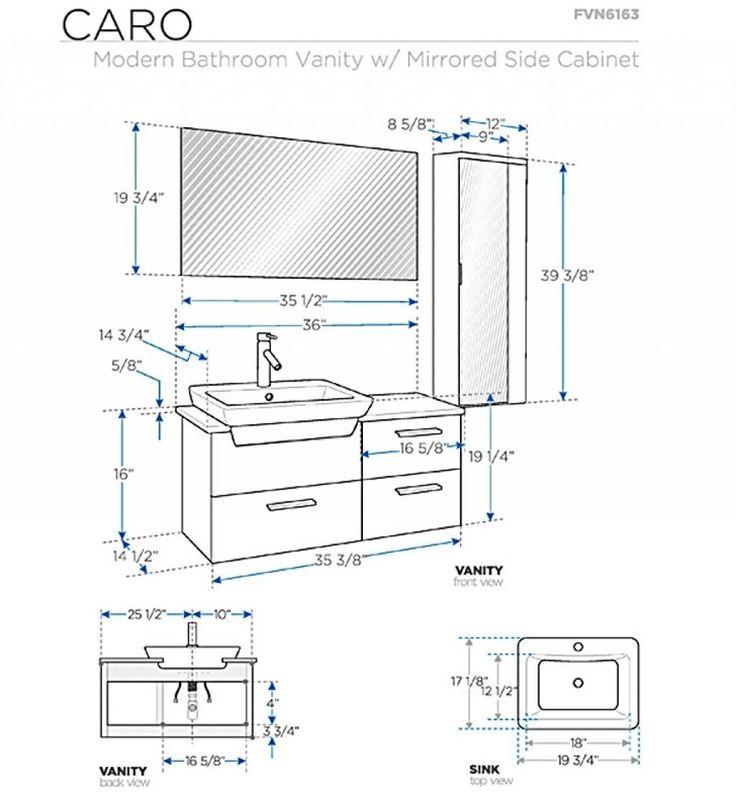 Standard Height For Bathroom Vanity Standard Height Of
