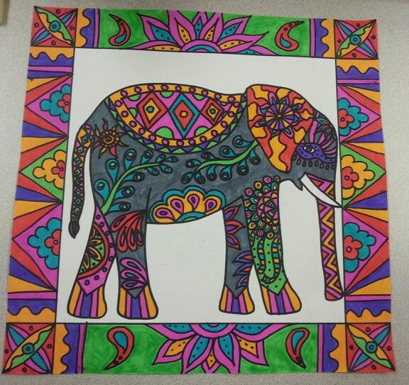 Elephant art - fourth grade