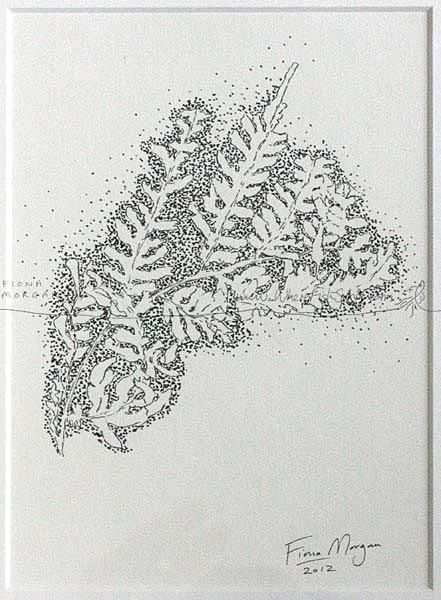 FERN LEAVES Nature illustration Matted ORIGINAL by WhereFishSing, $32.00