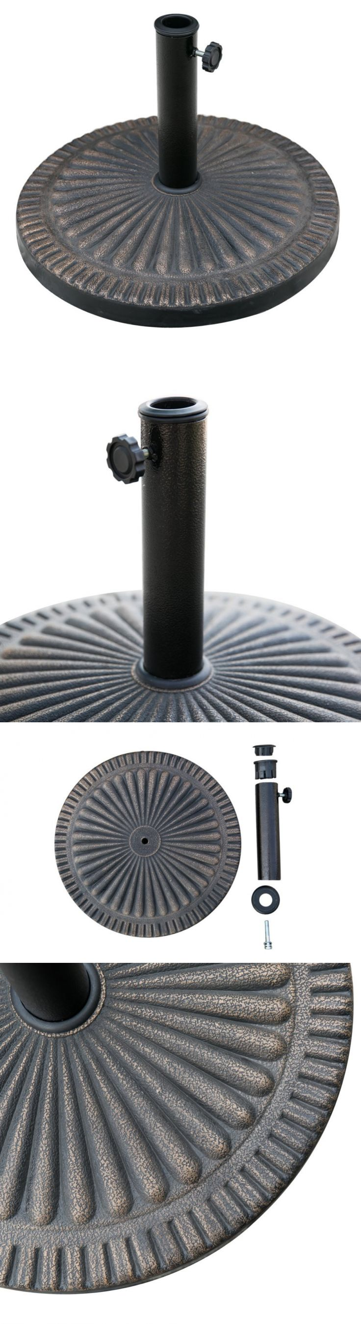 umbrella stands chopetree 193 round patio umbrella stand market umbrella base - Patio Umbrella Base