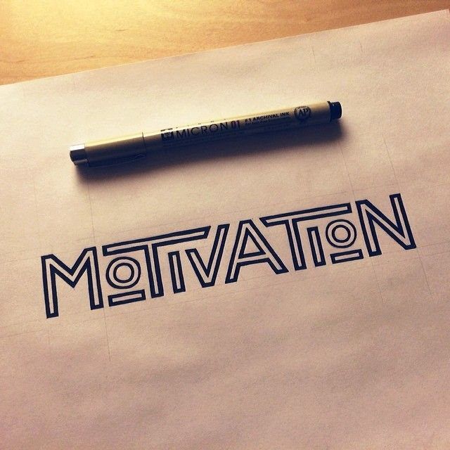 motivation | #lettering by Sean McCabe